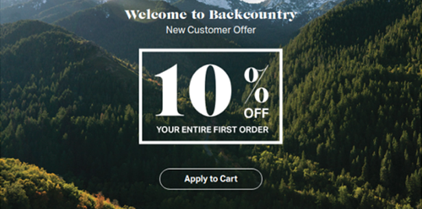 1. Keep the CTA simple and to-the-point - Backcountry