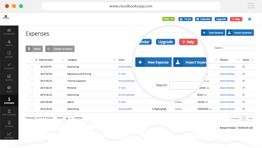 best expense tracking software business expense tracker cloudbooksapp