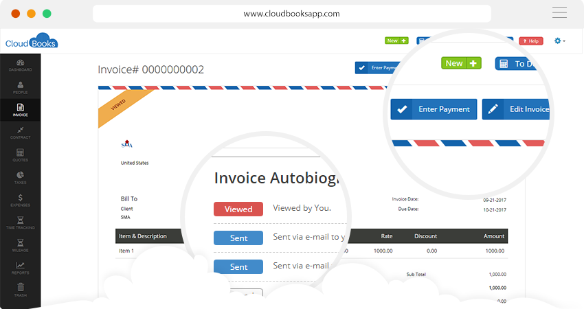 send invoice online with free trial cloudbooks